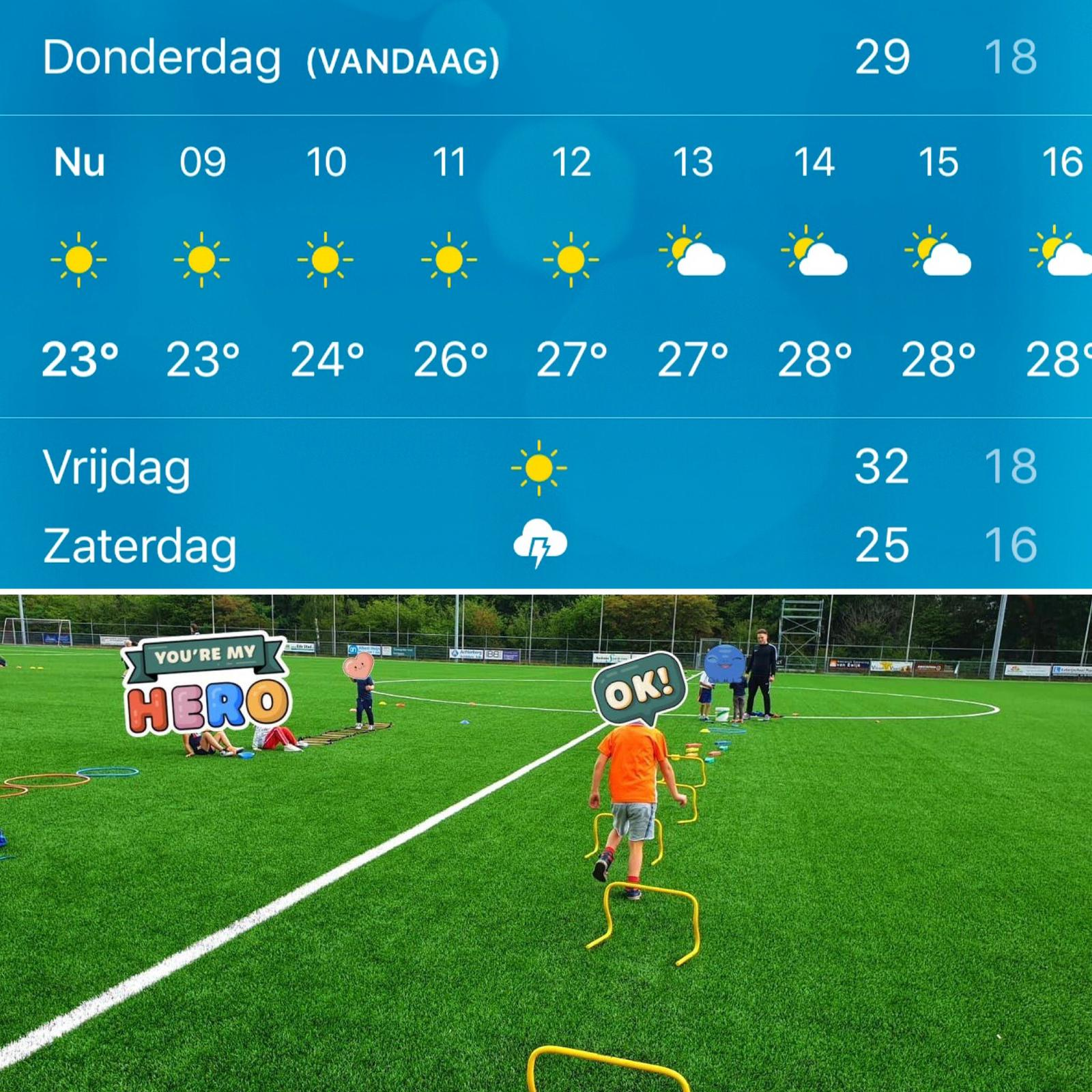 Vrijdag GÉÉN SAM Multisport Kids & Junior tropische temperaturen